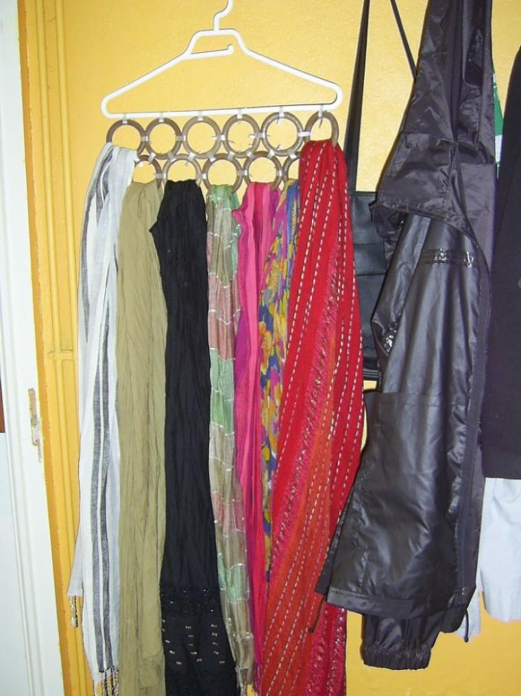 cintre + anneaux = porte foulards