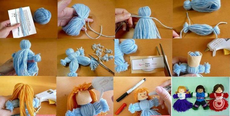 poupees  en laine