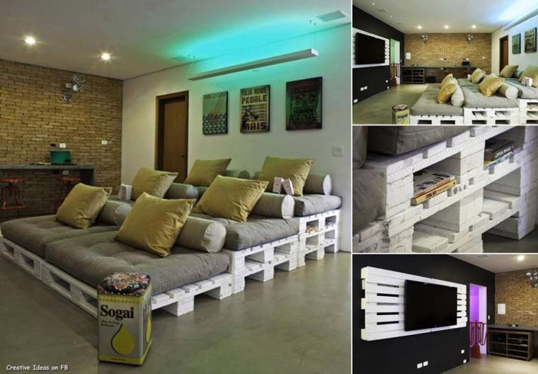 canapé , meuble , déco avec des palettes