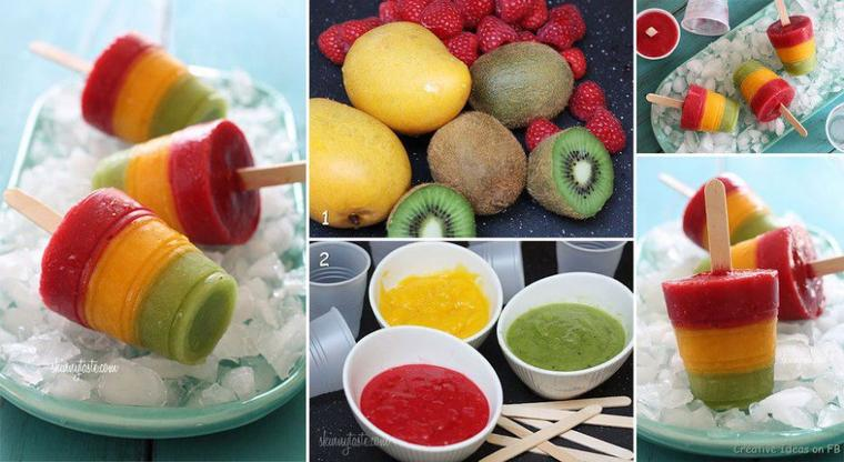 autres glaces de fruits frais