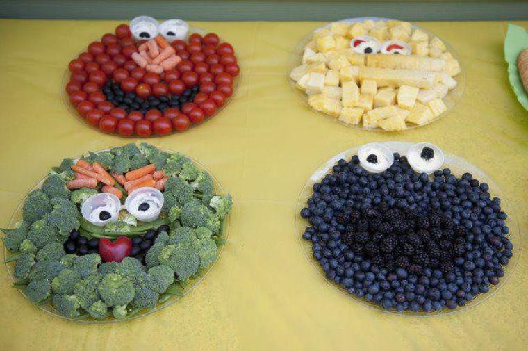 têtes de légumes et fruits rigolos