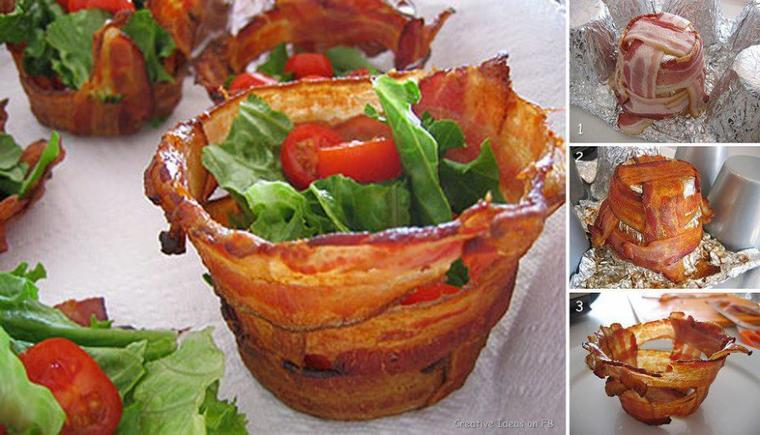 corbeille de ventrèches pour salade composée