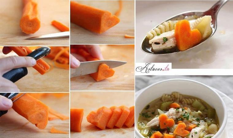 deco coeur de carottes