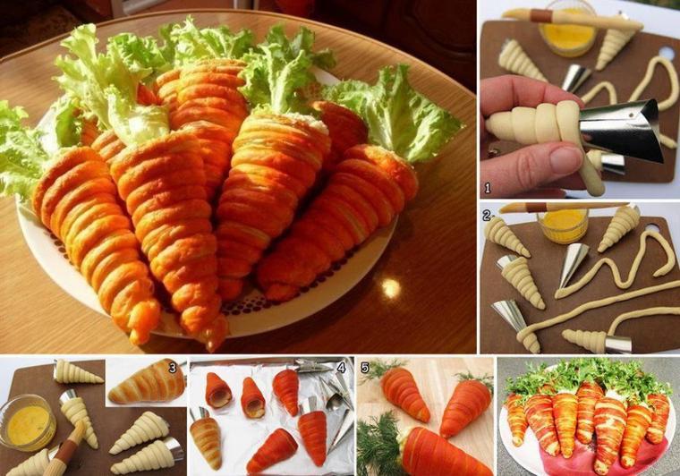 carottes de pàte brisée surprise