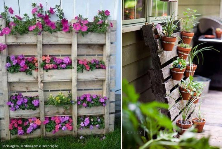 palettes porte pots de fleurs