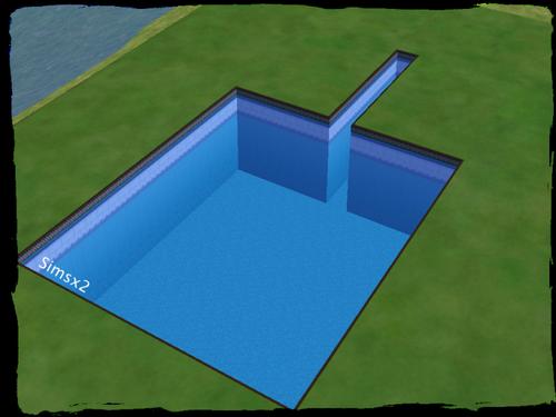 Sims 2 :  Toboggan pour Piscine