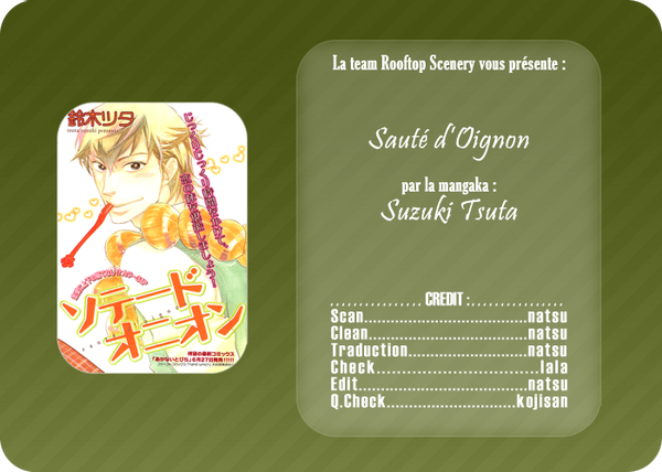 Scan yaoi:sauté d'oignon