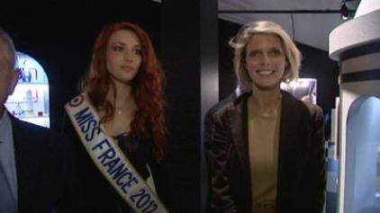 Miss France 2012 et Sylvie Tellier sont venues dans la ville qui accueillera le concours de Miss France 2013.