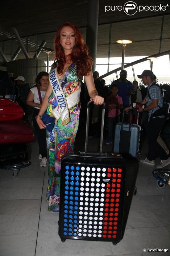 Les photos de Delphine pour le départ de Miss Monde.