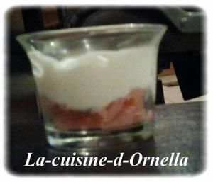 10 Verrine saumon-mascarpone