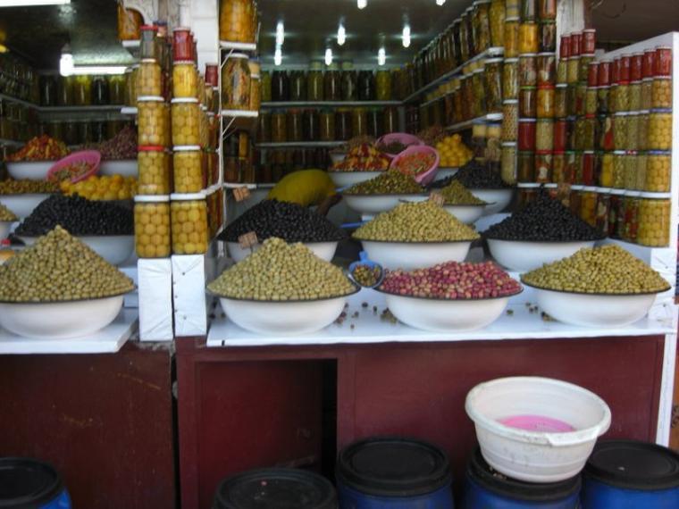 Nous avons eu l'occasion de visiter le maroc dont le marché aux olives du souk
