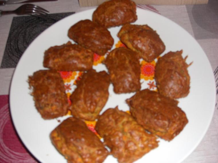 MINI CAKES CAROTTES LARDONS