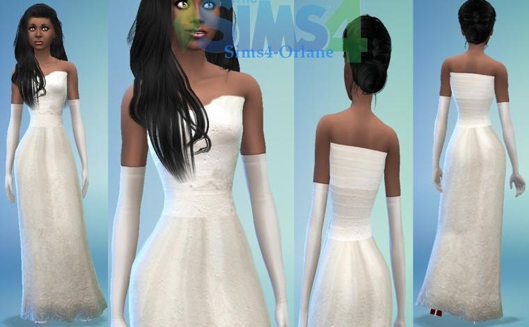 Robe de marié simple