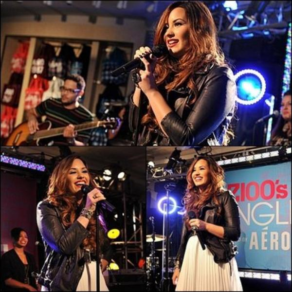 21/10/2011 Demi à participé et à joué au Coup de Z100 Jingle Ball 2011 Off Party officiel à New York. J'adore son make up, Tenue TOP ou FLOP ?