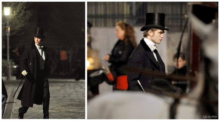 """Nouvelle photo de Robert Pattinson sur le tournage de """"Bel Ami"""" (Mars-Avril 2010)"""