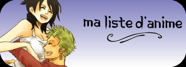 Liste d'anime/manga/drama