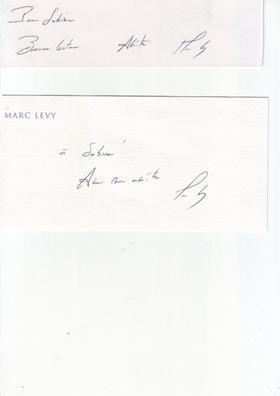 Autographe de Marc Lévy