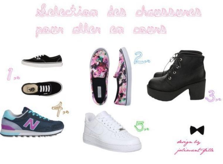 Ma sélection des chaussures pour aller en cours ♥