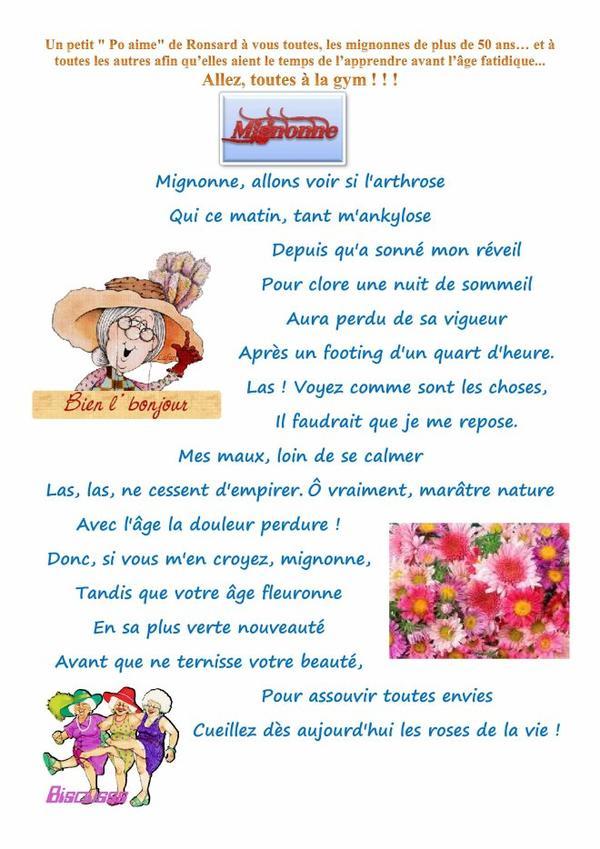 Poème de Ronsard....adorable...!
