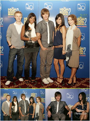 © Official-TheRealLife™  31/08/2007  ※  Zac et Vanessa à la Press Conference d'High School Musical 2 à Londres.  _