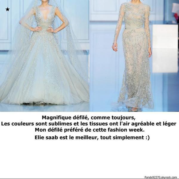 Collection Haute Couture automne-hiver 2011-2012: Elie Saab ♥