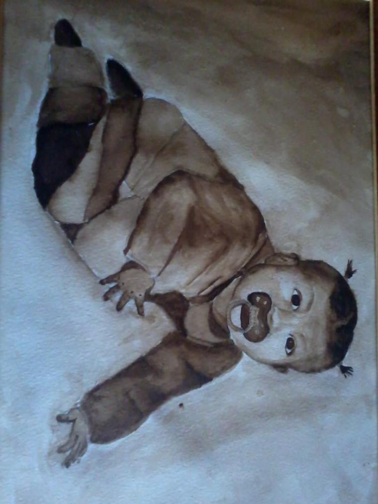 dessin que j ai fait moi meme de moi quabd j ete petite