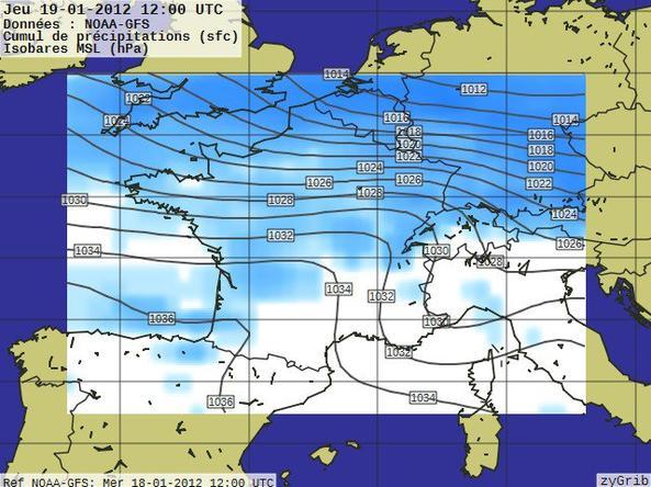 Prévisions du 19 janvier 2012