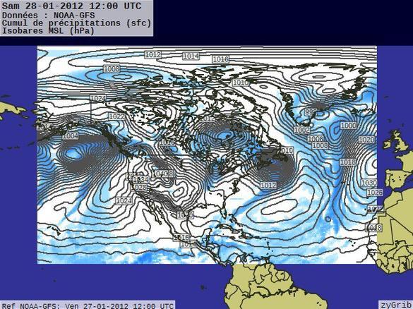 Prévisions du 28 janvier 2012