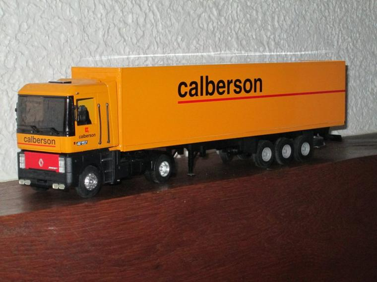 "RENAULT MAGNUM AE 500 SEMI FOURGON "" CALBERSON "" (lbs)"