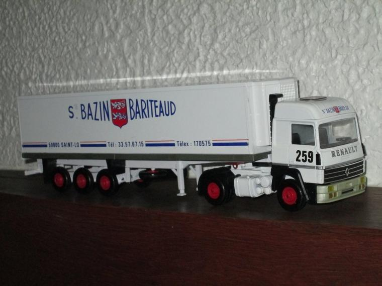 RENAULT R 390 SEMI FRIGO BAZIN-BARITEAUD