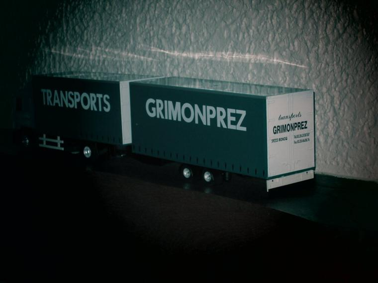 SCANIA  serie 4  114 L 380 CAMION  REMORQUE AUTOPORTEE GRIMONPREZ