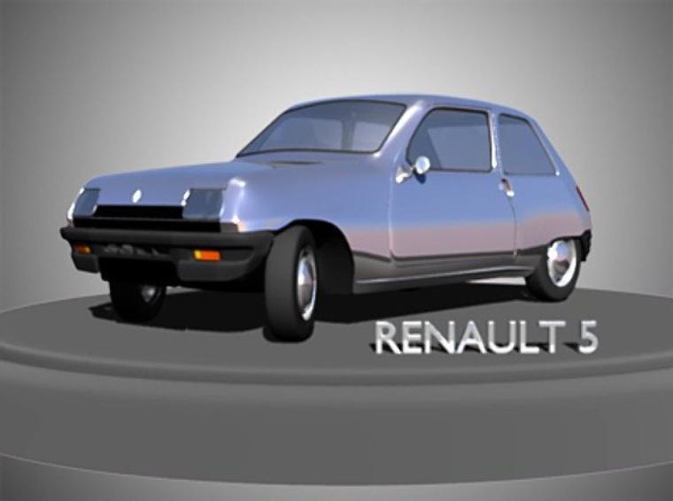 RENAULT 5 en 3D