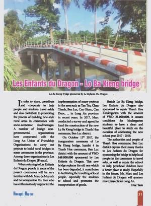 Construction d'un pont - Urgence humanitaire