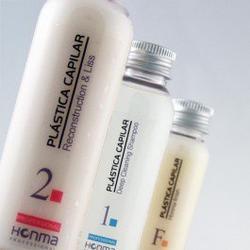 Kit de lissage brésilien cheveux crépus frisés Plastica Capilar de la marque Honma professional