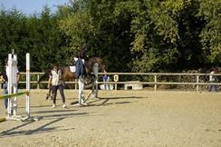 ma soeur et l'équitation