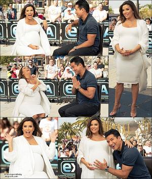 📺 Eva est ensuite allée sur le Plateau de Extra TV présenté par Mario Lopez.  o8 Mai 2o18. Universal City - États-Unis.
