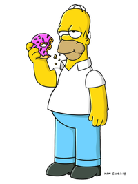 Homer Simpson et son donuts