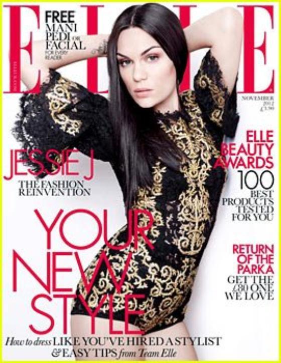 Jessie J Covers 'Elle UK' November 2012