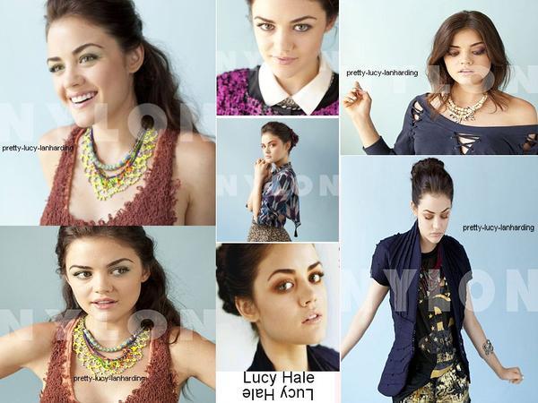 ♥  photoshoot de Lucy pour le magazine Nylon .♥