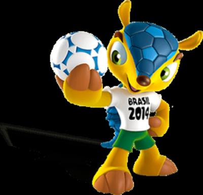 Le tatou à 3 bandes : mascotte de la coupe du monde de football 2014 au Brésil