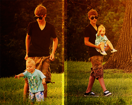 LoveBieberPhotos 354   ( Justin & Jaxon ♥ )