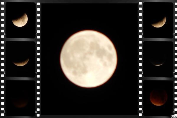 Un soir au clair de Lune ... Une éclipse ღ
