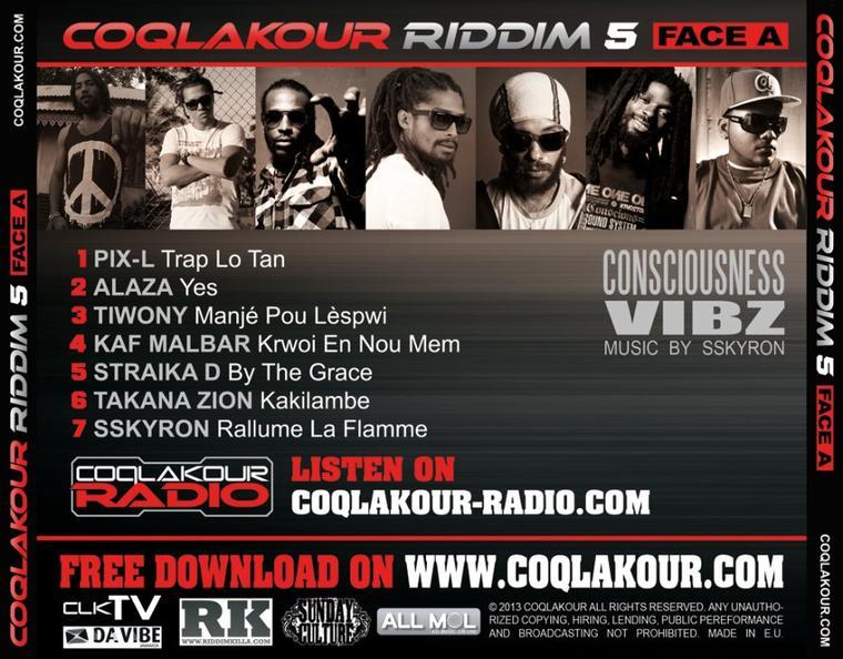 Coqlakour Riddim 5  / Trap lo tan - Pix'l  ( FACE A )  (2013)