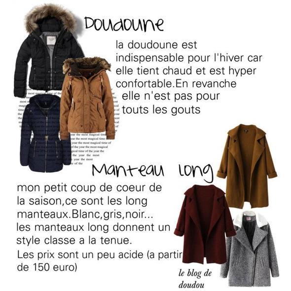 Quel manteau pour l'hiver