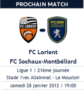 Avant Lorient-Sochaux, ça reprend forme ...