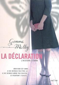 T1 La Déclartion - Gemma Malley