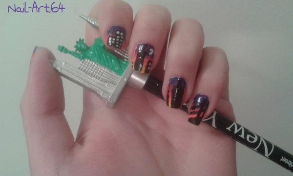 [COLAB n°3] Nail art New-Yorkais avec Nail-art64