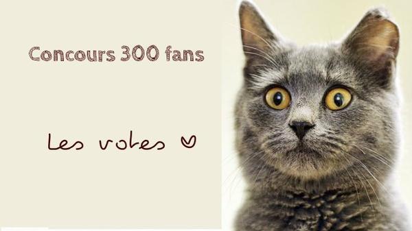 Concours des 300 fans ~ Votes ♥