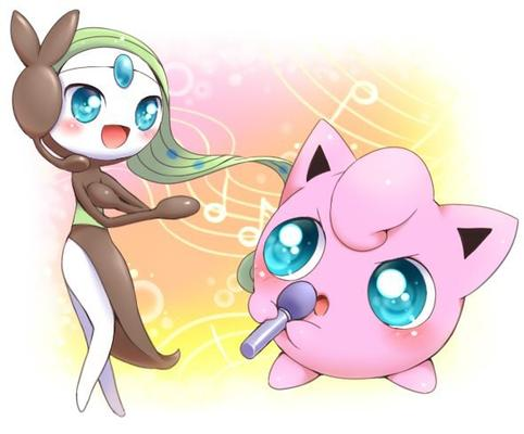 Jukebox de Meloetta et Rondoudou