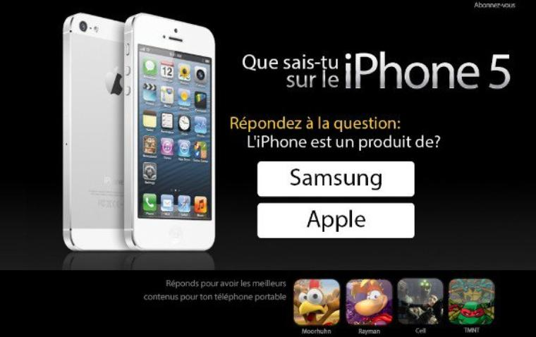 Gagnez un iPhone 5